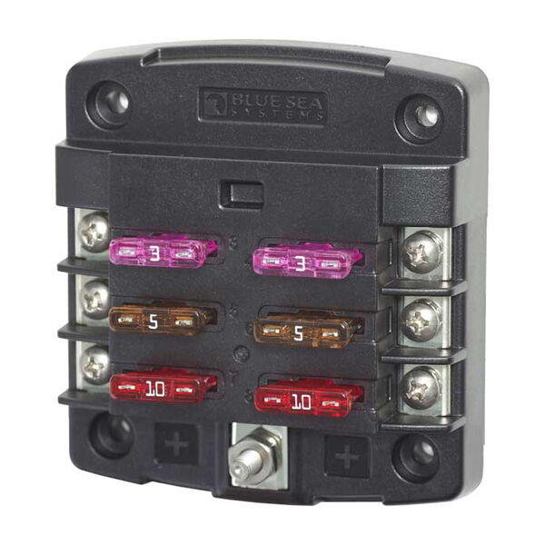 Blue Sea Common Sourced ST Blade Fuse Block - 6 Circuits