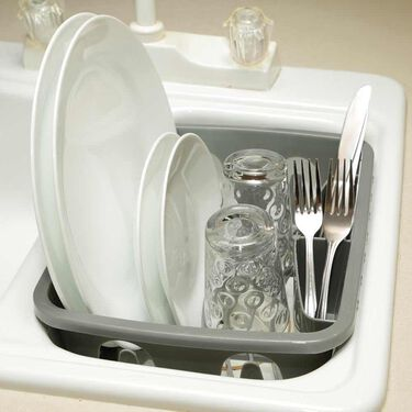 Gray RV Dish Drainer