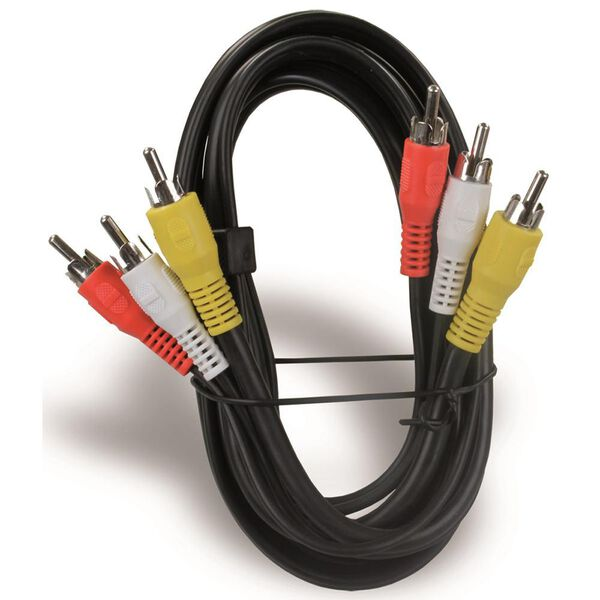 6' RCA/A-V Triple Cable Jumper
