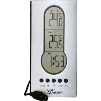 Wired Indoor/Outdoor Thermometer with Clock