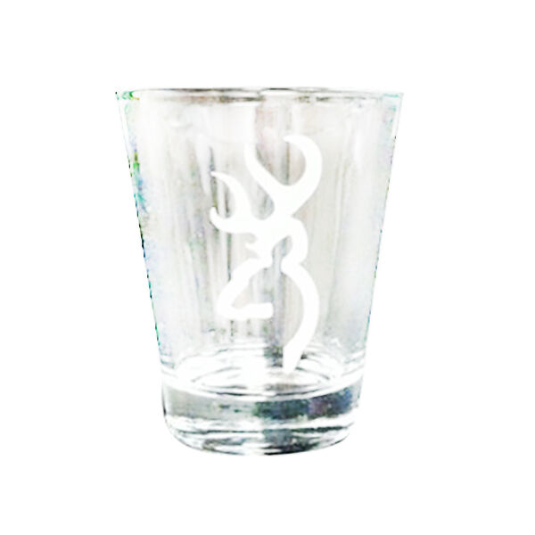 Browning Buckmark Etched Silver Shot Glass