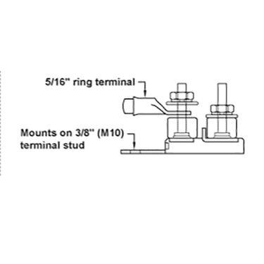 Blue Sea Terminal Fuse Block (MRBF), 1 Terminal Stud