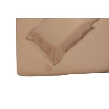 Microfiber Embroidered Sheet Set, Vintage RV Design, Taupe, Queen
