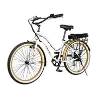 Swagtron EB-10 E-Bike, White and Gold
