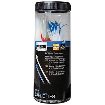 Cable Tie Jar, 650 pieces