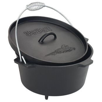 Miraculous Bayou Classic8 Qt Cast Iron Dutch Oven With Feet Home Interior And Landscaping Spoatsignezvosmurscom