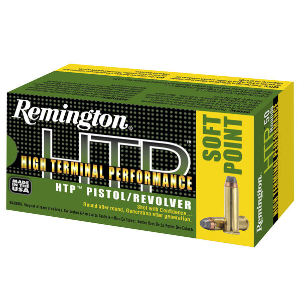 Remington HTP Handgun Ammo, .44 Rem Mag, 240 Gr., SP