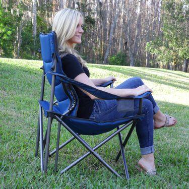 Full Back Chair, Blue