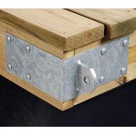 "Commercial-Grade 1/4"" Floating Dock Hardware - Male Outside Corner"