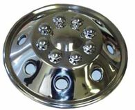 "Namsco Stainless Steel Wheel Cover, Single - 19.5"" All Styles (Front)"
