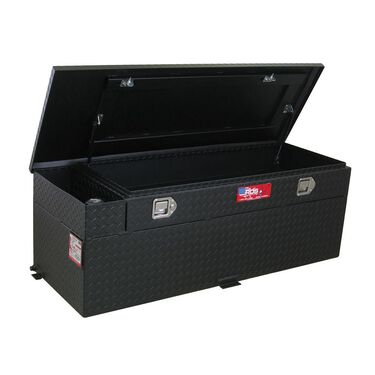 Black Powder Coat Auxiliary Fuel & Tool Tanks, 60 Gallon Combo Fuel and Tool