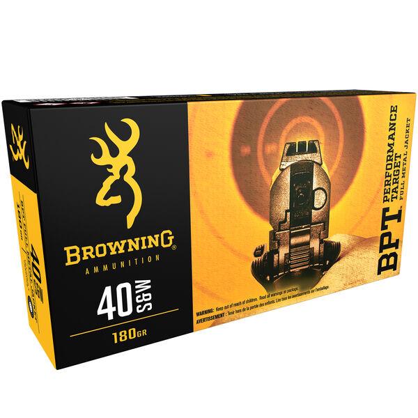 Browning BPT Performance Target Handgun Ammunition, .40 S&W, 180-gr., FMJ