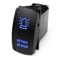 LED Rocker Switch w/ Blue LED Radiance (Rotary Beacon)