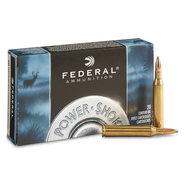 Federal Power-Shok Rifle Ammunition, 6mm Rem, 100-gr., JSP