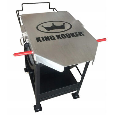 King Kooker Jet Burner with 70 Quart Aluminum Pot with Hinged Basket