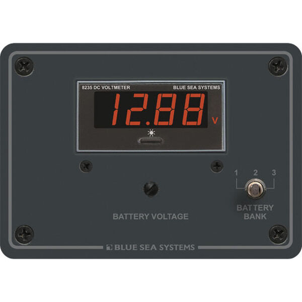 Blue Sea Systems Digital DC Voltmeter Panel, 7 - 60V DC