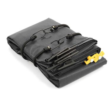 "RV Awning Shade Kit, 54""x 180"", Black"