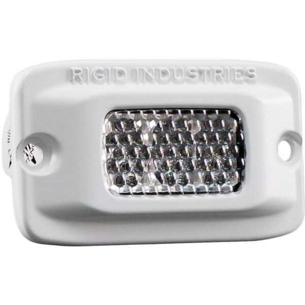 Rigid Industries MSR-M2F Single Row Mini White LED Flush-Mount Light, 60° Lens