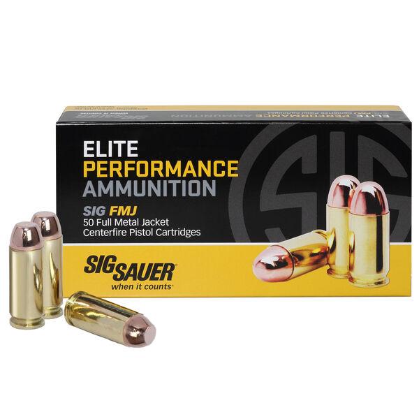 SIG Sauer Elite Performance FMJ Ammo, 10mm, 180-gr.