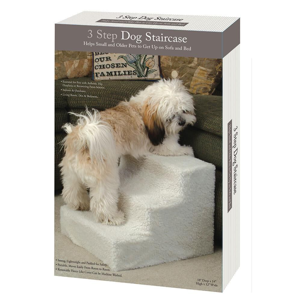 Stupendous Pet Steps With Fleece Cover 3 Step Gmtry Best Dining Table And Chair Ideas Images Gmtryco