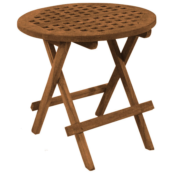 SeaTeak Folding Round Deck Table