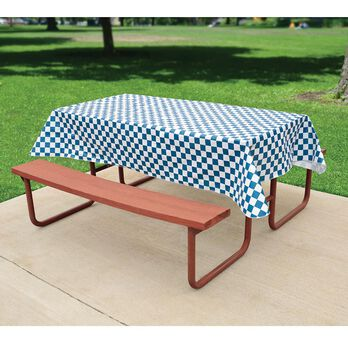 Blue Check Tablecloth