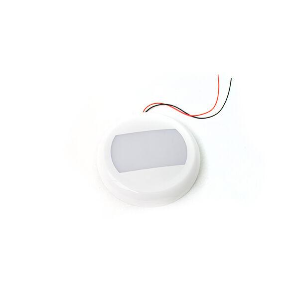 Vehicle Switch 24-Watt Round LED Interior SMART TOUCH Light - 10-30V Range, IP67, Flush Mount and bracket