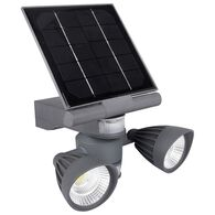 2 x 3 Watt COB LED Motion Activated Solar Spotlight, 600 Lumens
