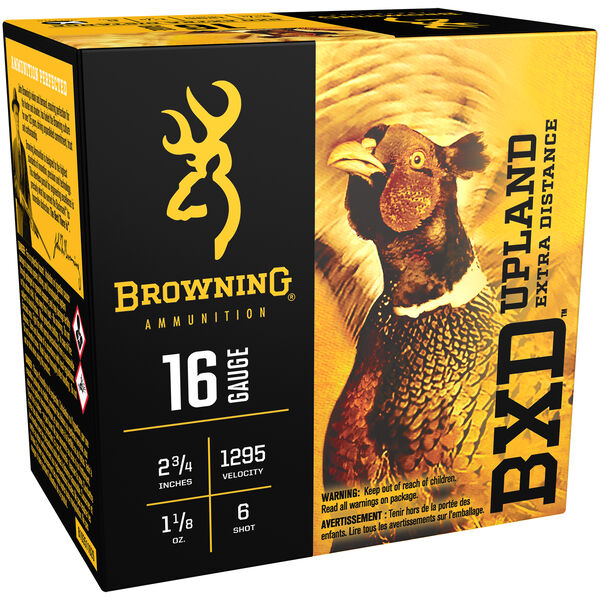 "Browning BXD Upland Extra-Distance Shotshells, 16-ga., 2-3/4"", 1-1/8 oz., #6"
