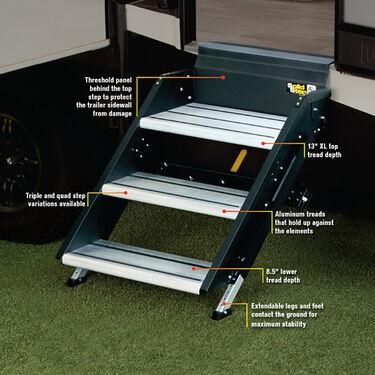 """SolidStep™ RV Steps, 26"""" Quad Step"""