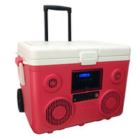 40-Quart Wheeled Cooler, Bluetooth PA System and Power Station - Red