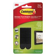 Command Medium Picture Hanging Strips, Black, Set of 4