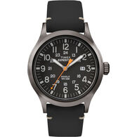 Timex Expedition Scout Metal, Black Leather/Black Dial