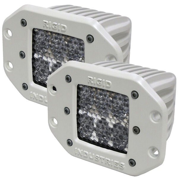 Rigid Industries M-Series Dually D2 Flush-Mount Diffused LED Lights, Pair