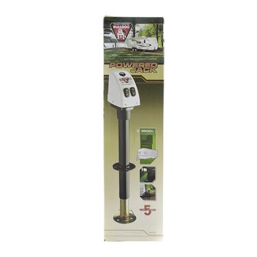Bulldog Power Trailer Tongue Jack, White