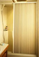 """Pleated Shower Door, Ivory - Up to 60"""" W x 57"""" L"""