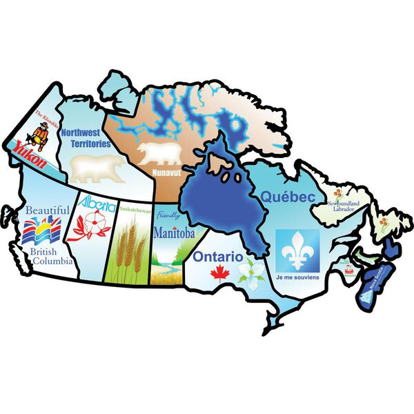 Rv Canada Sticker Map Canadian Provinces Sticker | Camping World