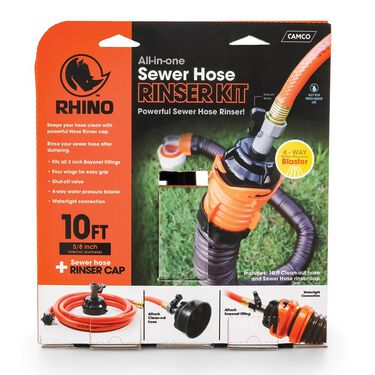 Rhino™ 10' Grey/Black Sewer Hose Clean-out System