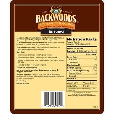 Backwoods Bratwurst Fresh Sausage Seasoning, 25 lbs.
