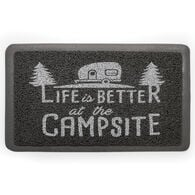 "Life is Better Welcome Mat, Gray, 26 1/2"" x 15"""