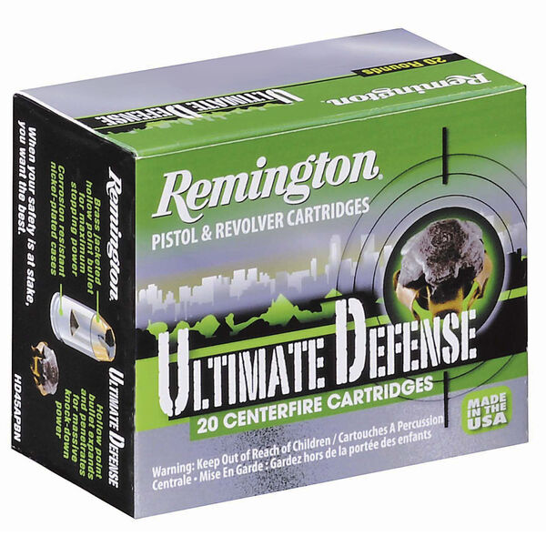 Remington Ultimate Defense Ammo, .45 Auto, 230 Gr., BJHP