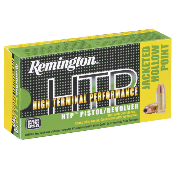 Remington HTP Jacket Hollow Point Handgun Ammo, 9mm Luger, 115-gr., JHP