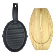 Mr. Bar-B-Q Cast Iron Fajita Platter Set