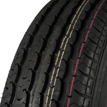 Trailer King II ST175/80 R 13 Radial Trailer Tire, 5-Lug Chrome Modular Rim