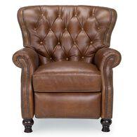 Cambridge Leather Recliner, Shalimar Saddle
