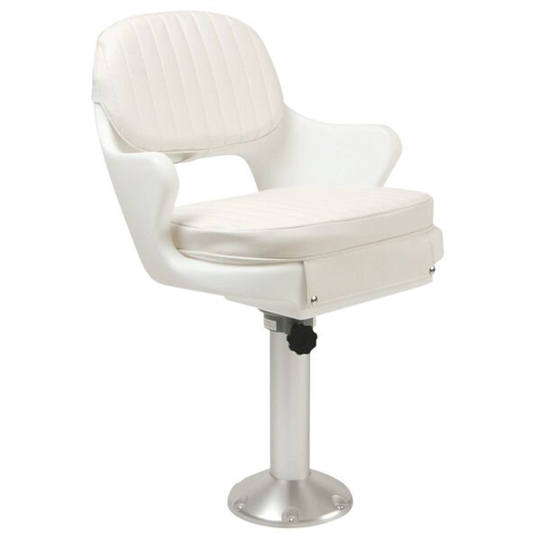Springfield Yachtsman II Deluxe Chair Package With Non-Locking Slide, White