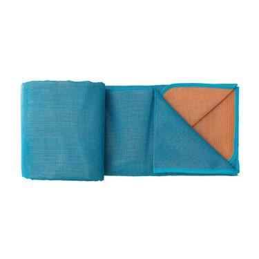 6'6 x 6'6 Sand Free Rug, Turquoise