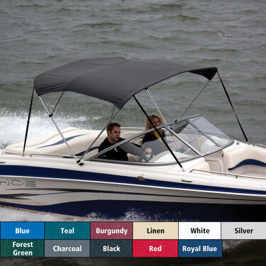 "Bimini Top Polyester Fabric and Boot Only, 3-Bow 6'L, 46""/54""H, 54""-60""W"