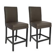"Kathy Ireland Furniture 24"" Bar Stools, Chestnut, pair"