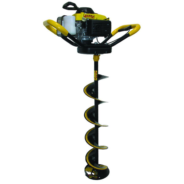 """Jiffy 4G Gas-Powered 4-Stroke Ice Auger with 10"""" Stealth STX Drill Assembly"""